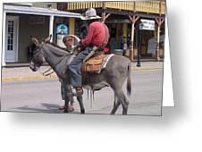 Prospector Re-enactor With Fan Allen Street Tombstone Arizona 200 Greeting Card
