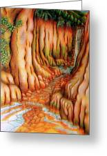 Prosperity Waterfall 1 Greeting Card by Barbara Stirrup