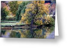 Prosser - Autumn Reflection With Geese Greeting Card