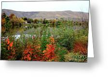 Prosser Autumn River With Hills Greeting Card