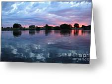 Prosser Pink Sunset 5 Greeting Card