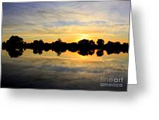 Prosser Sunset - Blue And Gold Greeting Card