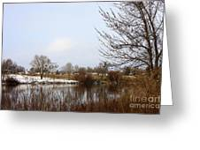 Prosser Winter - Brown And Burgundy Greeting Card
