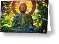 Protection Buddha #2 In Japanese Tea Garden At Golden Gate Park - San Francisco Greeting Card