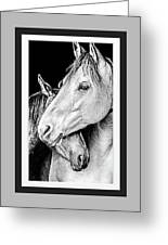 Protection In Black And White Greeting Card