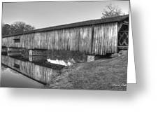 Protection That Works Historic Watson Mill Covered Bridge Greeting Card