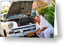 Proud Owner - Faces Of Havana Greeting Card
