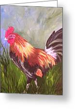 Proud Rooster Greeting Card