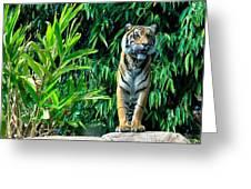 Proud Tiger Greeting Card