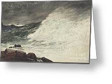 Prouts Neck Breaking Wave Greeting Card