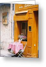 Provence Cafe Greeting Card