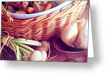 Provence Kitchen Shallots Greeting Card