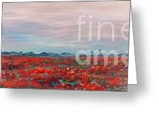 Provence Poppies Greeting Card by Nadine Rippelmeyer