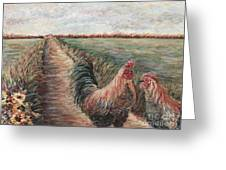 Provence Roosters Greeting Card