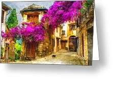 Provence Street Greeting Card