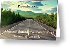 Proverbs119 Greeting Card