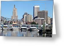 Providence Rhode Island Skyline Greeting Card