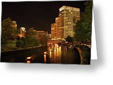 Providence Waterfire Greeting Card