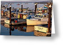 Provincetown Fishing Boats, Ptown, Ma Greeting Card