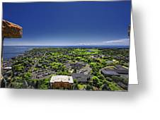 Provincetown Panoramic Aerial Greeting Card