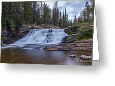 Provo River Falls Greeting Card