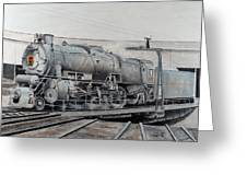 Prr M1 On Turntable Altoona Pa Greeting Card by Paul Cubeta