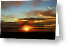 Prudhoe Bay Sunset Greeting Card