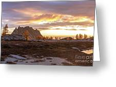 Prusik Peak Golden Cloudscape Greeting Card