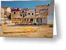 Prvic Luka Waterfront Architecture View Greeting Card