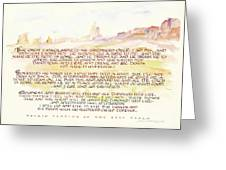 Psalm 23 Navajo Version  Greeting Card by Judy Dodds
