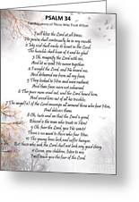Psalm 34 Pg 2 Greeting Card