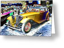 Psychedelic 1930 Jaguar Ss1 At London Classic Car Show 2015 Greeting Card