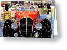 Psychedelic 1947 Delahaye 135m Letourner Et Marchand Cabriolet Greeting Card