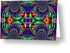 Psychedelic Abstract Kaleidoscope Greeting Card