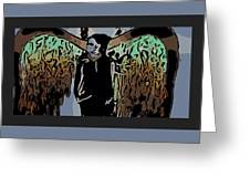 Psychedelic Angel Greeting Card
