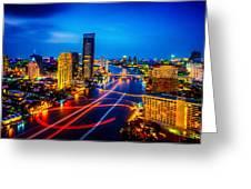 Psychedelic Bangkok Thailand Greeting Card