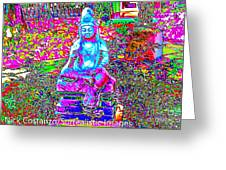 Psychedelic Buddha Greeting Card