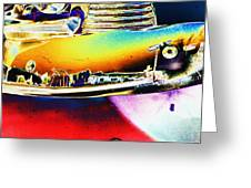 Psychedelic Chevy Bumper Greeting Card