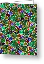 Psychedelic Circles Greeting Card