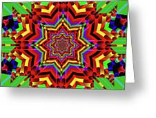 Psychedelic Construct Greeting Card