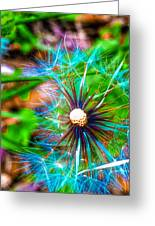 Psychedelic Dandelion Greeting Card