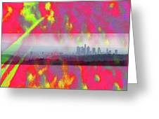 psychedelic energy of Los Angeles Greeting Card