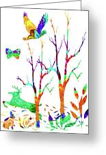 Psychedelic Forest Greeting Card