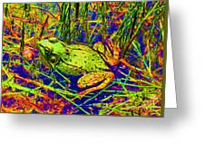 Psychedelic Frog  Greeting Card