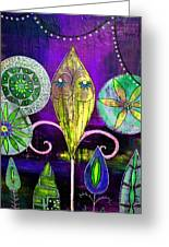 Psychedelic Garden 2 Greeting Card