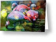 Psychedelic Ibis Greeting Card