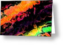 Psychedelic J Greeting Card
