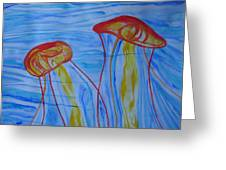 Psychedelic Lion's Mane Jellyfish Greeting Card