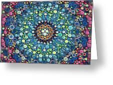 Psychedelic Mandala Greeting Card
