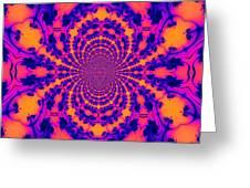 Psychedelic Mandelbrot Set  Kaleidoscope Greeting Card